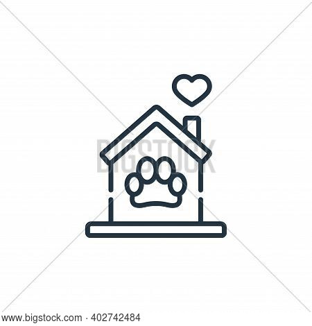 pet shelter icon isolated on white background. pet shelter icon thin line outline linear pet shelter