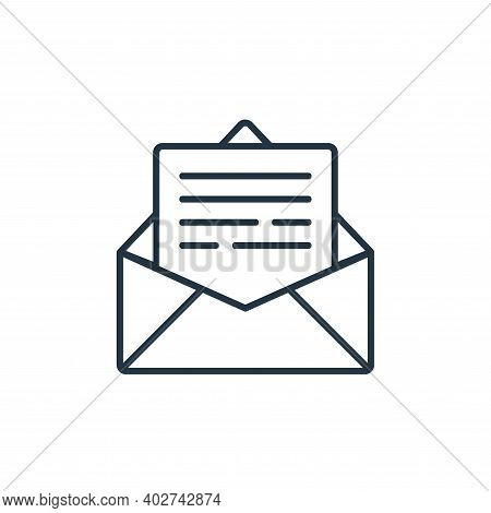 mail icon isolated on white background. mail icon thin line outline linear mail symbol for logo, web