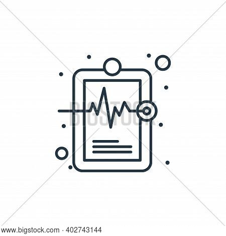 medical record icon isolated on white background. medical record icon thin line outline linear medic