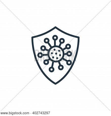 coronavirus icon isolated on white background. coronavirus icon thin line outline linear coronavirus