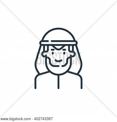 muslim icon isolated on white background. muslim icon thin line outline linear muslim symbol for log