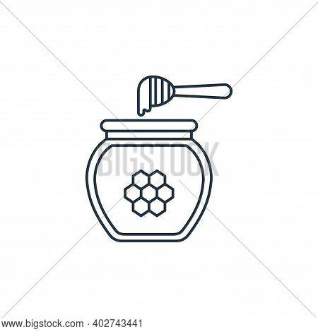 honey jar icon isolated on white background. honey jar icon thin line outline linear honey jar symbo