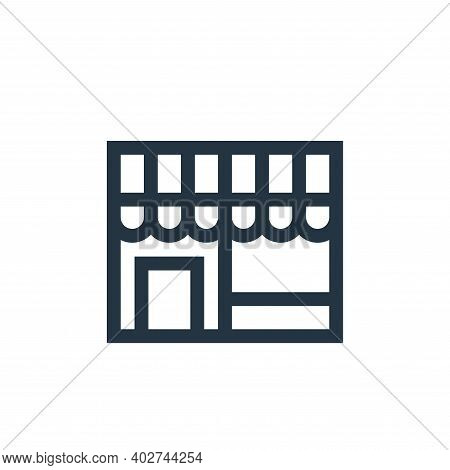 shop icon isolated on white background. shop icon thin line outline linear shop symbol for logo, web