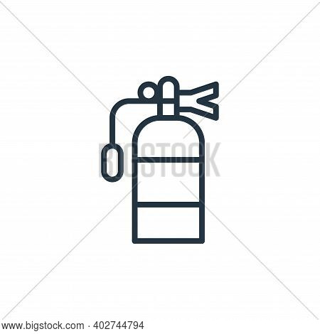 fire extinguisher icon isolated on white background. fire extinguisher icon thin line outline linear