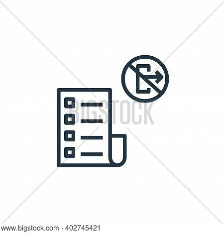 rule icon isolated on white background. rule icon thin line outline linear rule symbol for logo, web