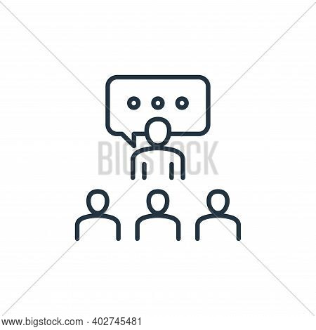 briefing icon isolated on white background. briefing icon thin line outline linear briefing symbol f