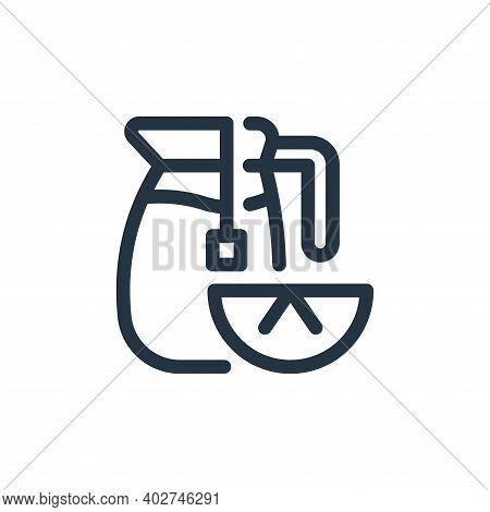 lemon tea icon isolated on white background. lemon tea icon thin line outline linear lemon tea symbo