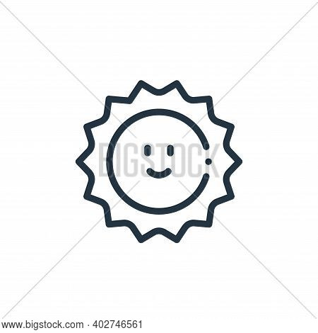sun icon isolated on white background. sun icon thin line outline linear sun symbol for logo, web, a