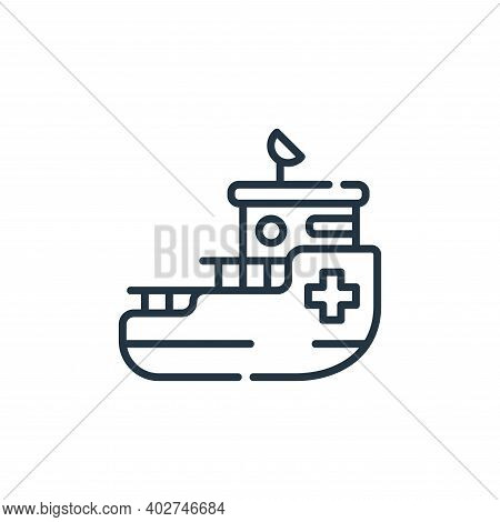 rescue boat icon isolated on white background. rescue boat icon thin line outline linear rescue boat