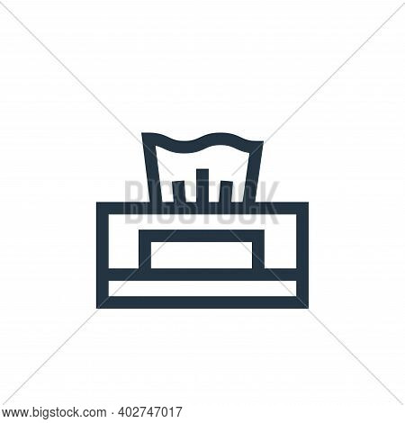 tissue icon isolated on white background. tissue icon thin line outline linear tissue symbol for log