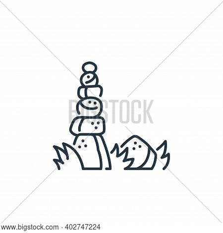 stones icon isolated on white background. stones icon thin line outline linear stones symbol for log