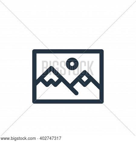 landscape icon isolated on white background. landscape icon thin line outline linear landscape symbo