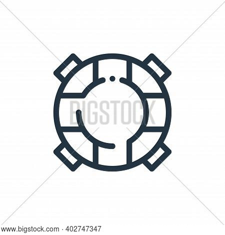float icon isolated on white background. float icon thin line outline linear float symbol for logo,