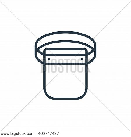 protective gear icon isolated on white background. protective gear icon thin line outline linear pro