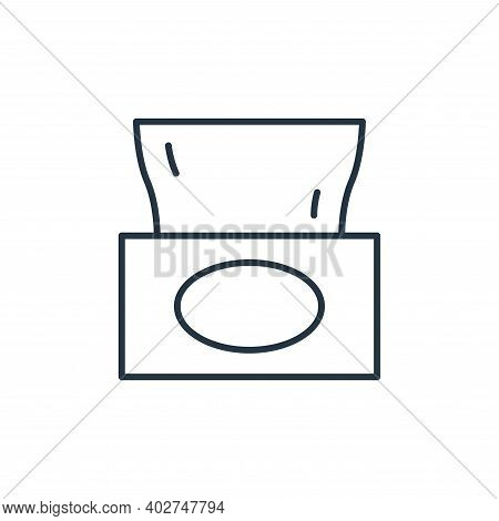 tissues icon isolated on white background. tissues icon thin line outline linear tissues symbol for