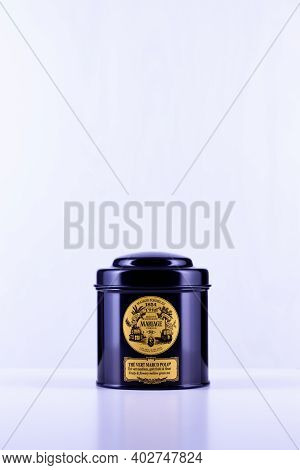 Prague,czech Republic - 10 January,2021: Marco Polo Tea In The Black Box. Its Extraordinary Bouquet