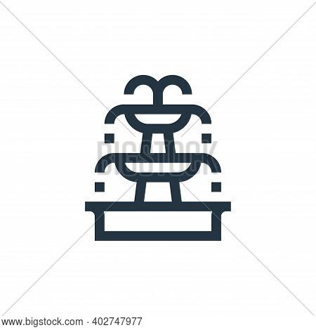 fountain icon isolated on white background. fountain icon thin line outline linear fountain symbol f
