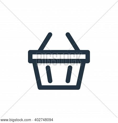 basket icon isolated on white background. basket icon thin line outline linear basket symbol for log