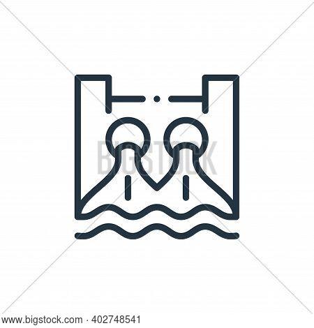 hydro power icon isolated on white background. hydro power icon thin line outline linear hydro power