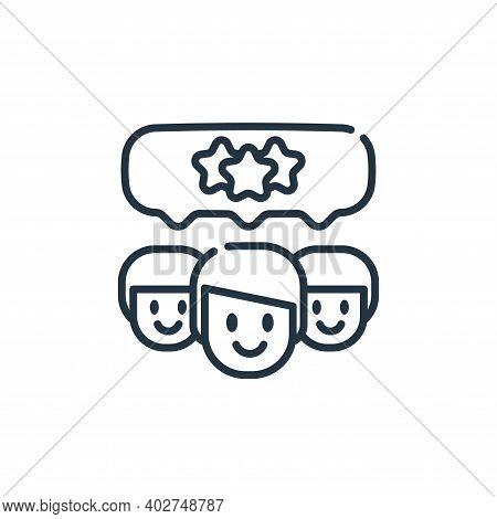 customer satisfaction icon isolated on white background. customer satisfaction icon thin line outlin