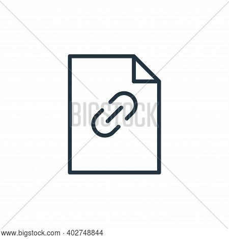 link icon isolated on white background. link icon thin line outline linear link symbol for logo, web
