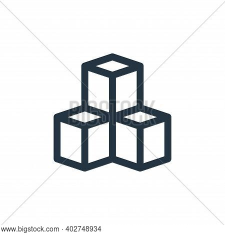 cubes icon isolated on white background. cubes icon thin line outline linear cubes symbol for logo,