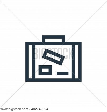 baggage icon isolated on white background. baggage icon thin line outline linear baggage symbol for
