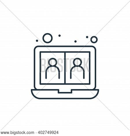 videocall icon isolated on white background. videocall icon thin line outline linear videocall symbo
