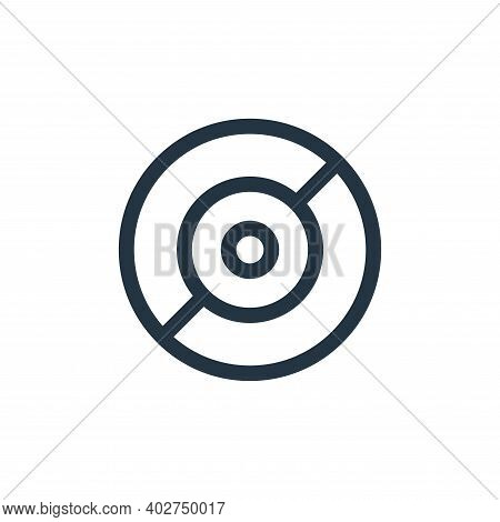 cd icon isolated on white background. cd icon thin line outline linear cd symbol for logo, web, app,