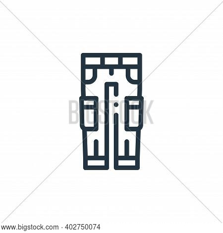 pants icon isolated on white background. pants icon thin line outline linear pants symbol for logo,