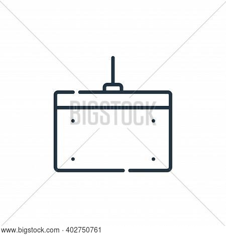 graphic tablet icon isolated on white background. graphic tablet icon thin line outline linear graph
