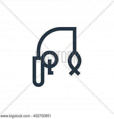 fishing rod icon isolated on white background. fishing rod icon thin line outline linear fishing rod