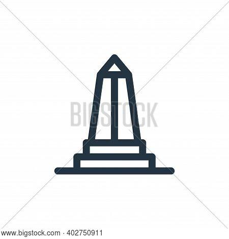 obelisk icon isolated on white background. obelisk icon thin line outline linear obelisk symbol for
