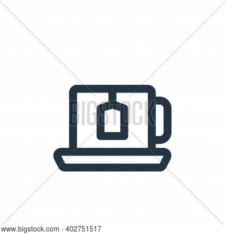 tea icon isolated on white background. tea icon thin line outline linear tea symbol for logo, web, a