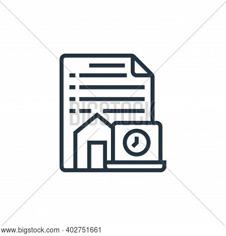 terms and conditions icon isolated on white background. terms and conditions icon thin line outline