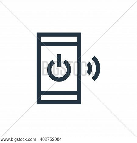 power icon isolated on white background. power icon thin line outline linear power symbol for logo,