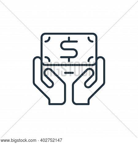 money saving icon isolated on white background. money saving icon thin line outline linear money sav