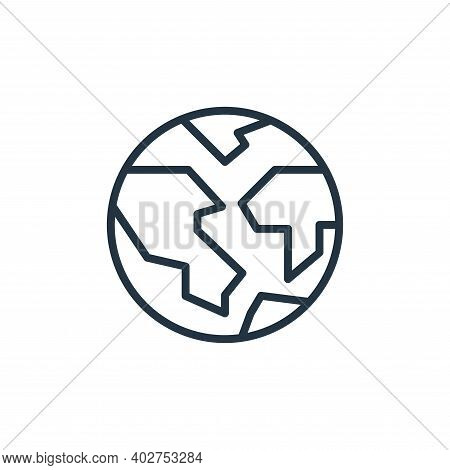 earth icon isolated on white background. earth icon thin line outline linear earth symbol for logo,