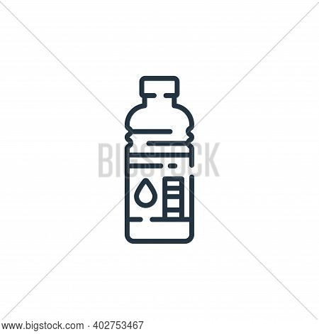 water bottle icon isolated on white background. water bottle icon thin line outline linear water bot