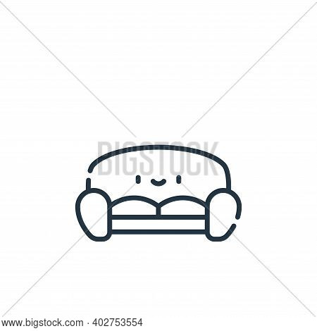 sofa icon isolated on white background. sofa icon thin line outline linear sofa symbol for logo, web