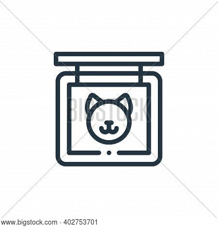 cat icon isolated on white background. cat icon thin line outline linear cat symbol for logo, web, a