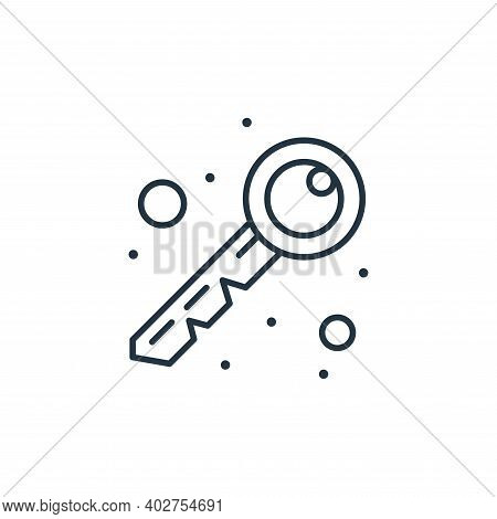 key icon isolated on white background. key icon thin line outline linear key symbol for logo, web, a