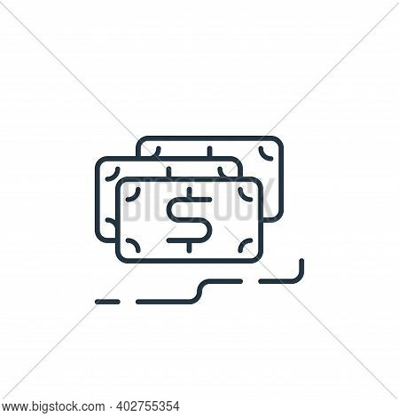 revenues icon isolated on white background. revenues icon thin line outline linear revenues symbol f