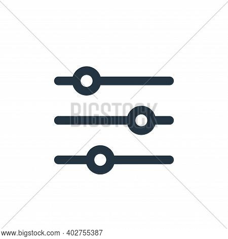 sliders icon isolated on white background. sliders icon thin line outline linear sliders symbol for