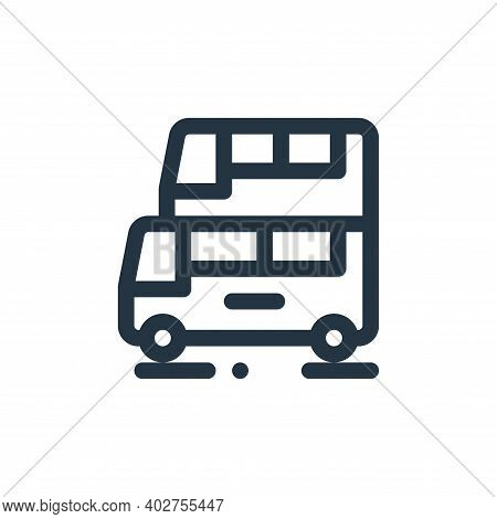 double decker bus icon isolated on white background. double decker bus icon thin line outline linear