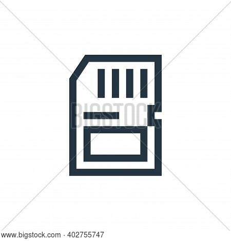 memory card icon isolated on white background. memory card icon thin line outline linear memory card