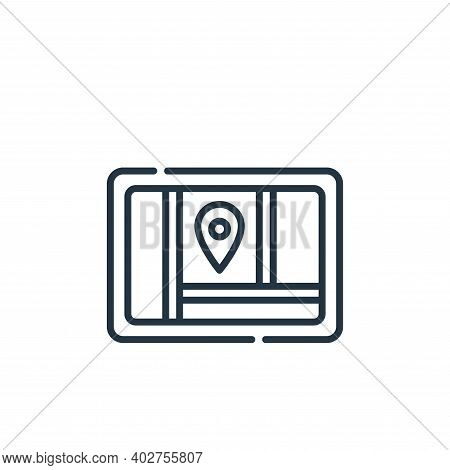 gps icon isolated on white background. gps icon thin line outline linear gps symbol for logo, web, a