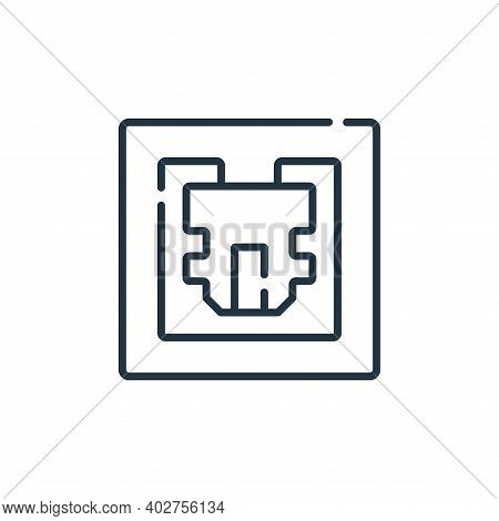 port icon isolated on white background. port icon thin line outline linear port symbol for logo, web