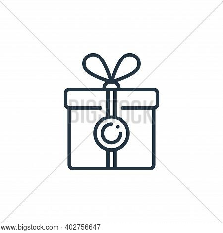 present icon isolated on white background. present icon thin line outline linear present symbol for