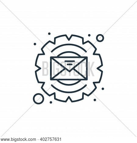 process icon isolated on white background. process icon thin line outline linear process symbol for